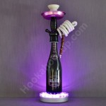 Belaire Rose .750L Bottle Hookah with LED Stand